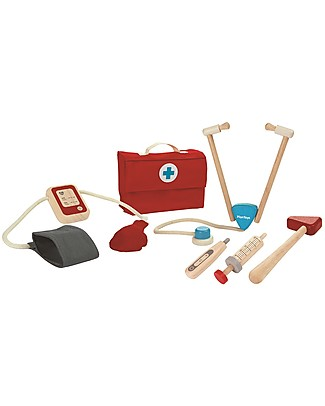 PlanToys Doctor Set Wooden Toy Dressing Up & Role Play
