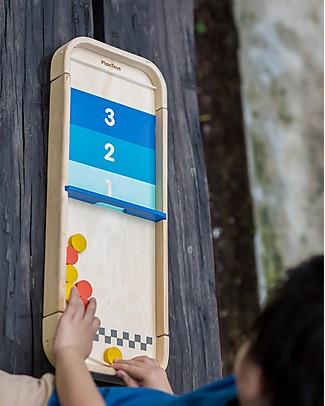 PlanToys Gioco da Tavolo in Legno 2-1, Shuffleboard e Disc Flicking - Ecologico e divertente Giochi Da Tavolo