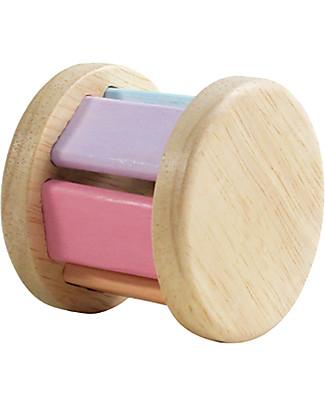 PlanToys Gioco in Legno Sonaglio Roller, Colori Pastello - Ecologico e divertente! Strumenti Musicali