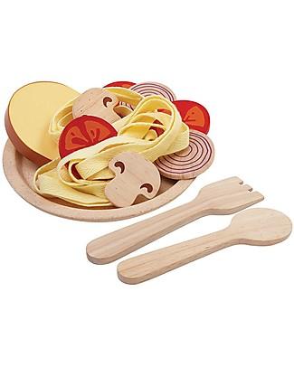 PlanToys Gioco Piatto di Spaghetti in Legno - Insegna a Mangiare in Modo Sano Giochi Per Inventare Storie
