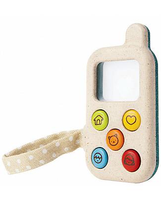 PlanToys Il Mio Primo Telefono, 6 x 11 x 2 cm – Ecologico e divertente Giochi Per Inventare Storie