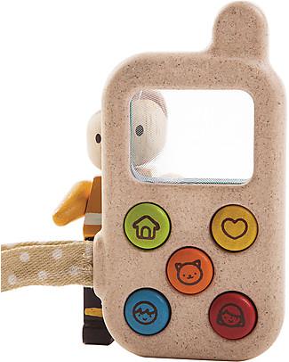 PlanToys Il Mio Primo Telefono, 6 x 11 x 2 cm - Legno: ecologico e divertente Giochi Per Inventare Storie