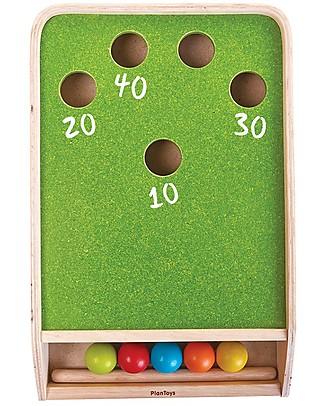 PlanToys Mini Biliardo in Legno - Sfida i Tuoi Amici! Giochi Da Tavolo