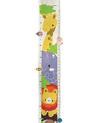 PlanToys Misuratore di Altezza, Animali della Giungla, 160 cm! Decorazioni