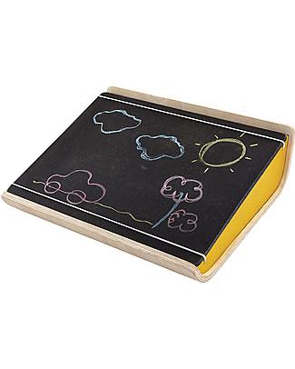 PlanToys My Art Board, Lavagna Portatile in Legno con Scompartimento 32 x 26 cm Lavagnette