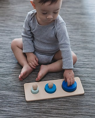 PlanToys Puzzle Baby Cerchi in Legno, 3 pezzi - Insegna le Forme! Puzzle