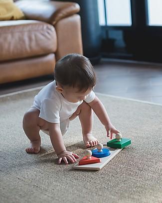 PlanToys Puzzle Baby Forme in Legno, 3 pezzi - Insegna le Figure! Puzzle