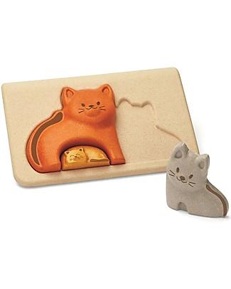 PlanToys Puzzle Baby Gattino in Legno, 3 pezzi - Eco-friendly e divertente! Puzzle