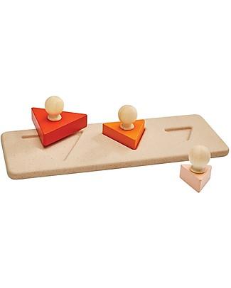 PlanToys Puzzle Baby Triangoli in Legno, 3 pezzi - Insegna le Forme! Puzzle