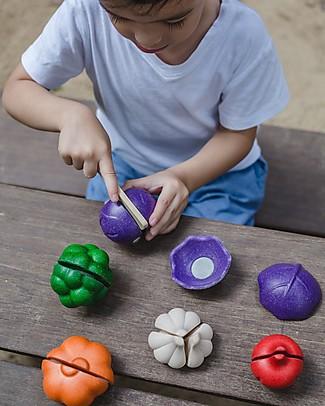 PlanToys Set di Verdura Colorata in Legno - Ecologico e Divertente! Giochi Per Inventare Storie