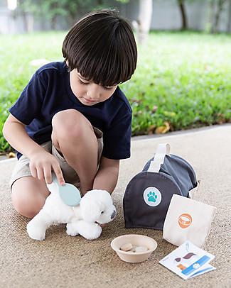 PlanToys Set Gioco in Legno Trasportino con Accessori Animale Giochi Per Inventare Storie