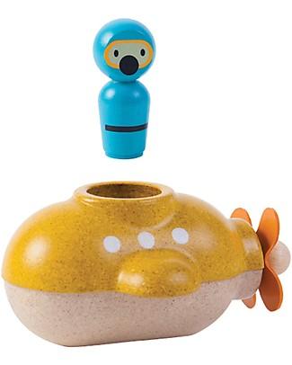 PlanToys Sottomarino in Legno - Ecologico e divertente! Giochi Bagno