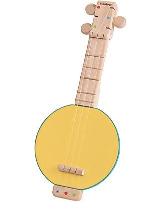 PlanToys Strumento Musicale Gioco Banjolele - Con 3 corde regolabili! Strumenti Musicali