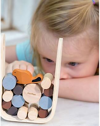 PlanToys Timber Tumble, il Castoro alla Diga - Educativo e Divertente per tutta la Famiglia! Incastri In Legno