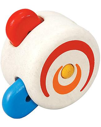PlanToys Trottola Nascondi Colori, Legno - Eco-friendly e divertente! Giochi da Tirare e Spingere