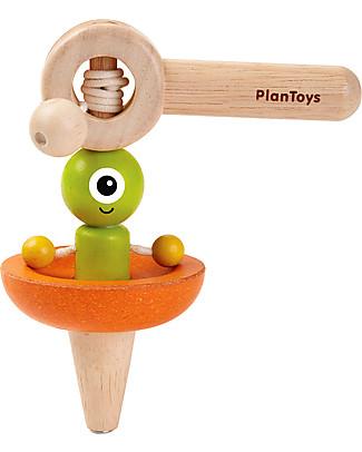 PlanToys Trottola Spaziale in Legno - Eco-friendly, divertente, educativo! Giochi Di Una Volta