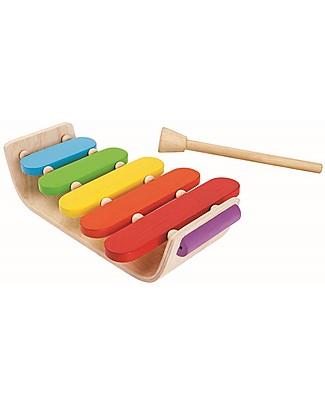 PlanToys Xilofono Ovale - Coloratissimo e divertente! Strumenti Musicali