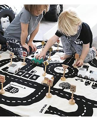 Play&Go Sacco Portagiochi e Tappeto 2 in 1 in cotone – Roadmap Contenitori Porta Giochi