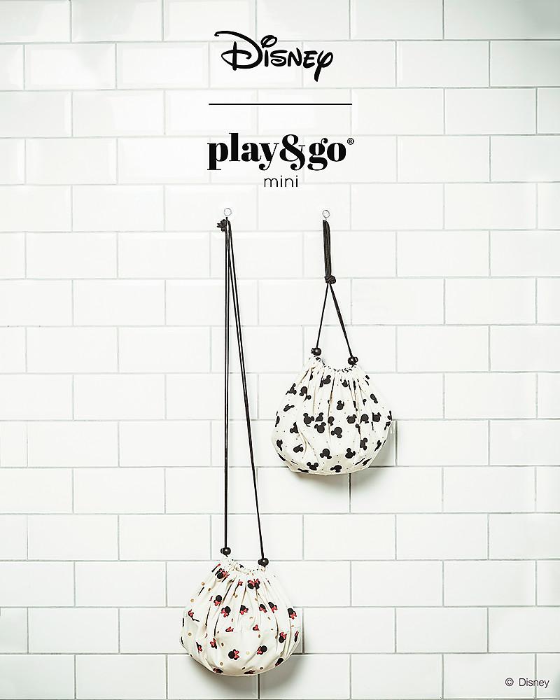 09ccd85c15 Play&Go Mini Sacco Portagiochi e Tappeto 2 in 1 in cotone - Collezione  Disney, Topolino