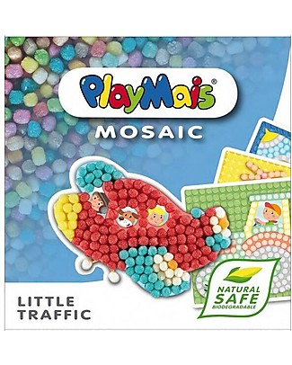 Playmais PlayMais Mosaic, Little Traffic – 2300 pezzi + cartoncini da decorare – Oltre 8 ore di gioco! Giochi Creativi