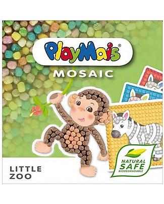 Playmais PlayMais Mosaic, Little Zoo – 2300 pezzi + cartoncini da decorare – Oltre 8 ore di gioco! Giochi Creativi