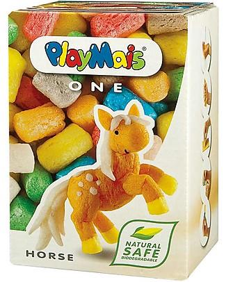 Playmais PlayMais One, Cavallo – 70 pezzi + istruzioni – Perfetto regalino per le feste! Regalini