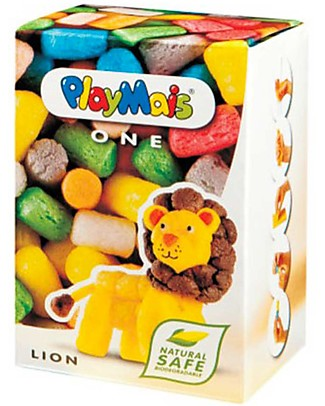 Playmais PlayMais One, Leone – 70 pezzi + istruzioni – Perfetto regalino per le feste! Regalini