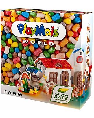 Playmais PlayMais World, Fattoria – 1000 pezzi + istruzioni – Oltre 10 ore di gioco! Giochi Creativi