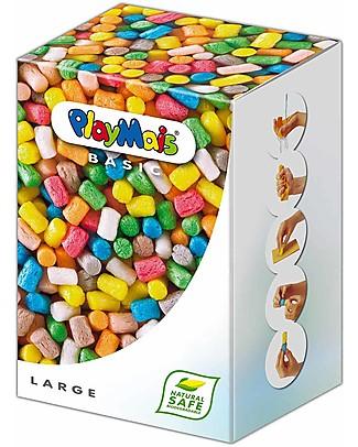 Playmais PlayMas Basic Large, Multicolore – 700 pezzi + istruzioni Giochi Creativi