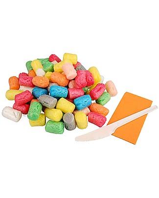 Playmais PlayMas Basic Medium, Multicolore – 300 pezzi + istruzioni Giochi Creativi