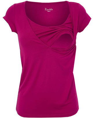 Pomkin Lise - Maglia Premaman e Allattamento - Fucsia T-Shirt e Canotte