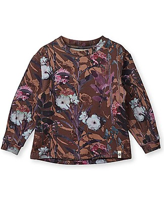 Popupshop Balloon Blouse Fall Flower - 100% organic cotton Long Sleeves Tops