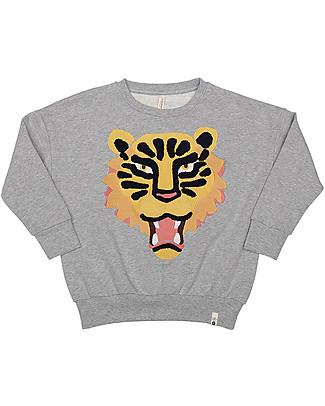 Popupshop Felpa Oversize Tigre - 100% cotone bio Felpe