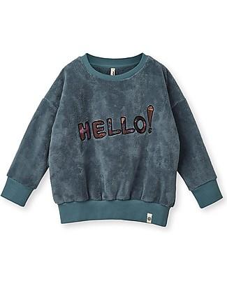 """Popupshop Felpa Teddy """"Hello"""" - 100% cotone bio Felpe"""