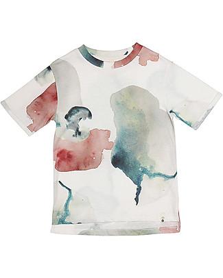 Popupshop T-shirt Maniche Corte Girocollo, Fiori d'Acqua - 100% Cotone bio  T-Shirt e Canotte