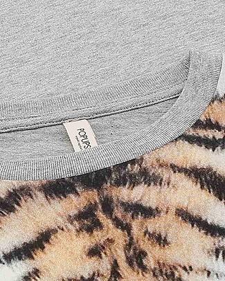 Popupshop T-shirt Maniche Corte Girocollo, Tigre - 100% Cotone bio T-Shirt e Canotte