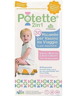 Potette 2in1 Ricambi per Vasino Potette 2in1, Superassorbenti e Antiodore - 30 Pezzi Vasini