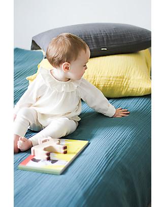 Poudre Organic Blusa con Collo Volant, Bianco Latte - 100% cotone bio Camicie