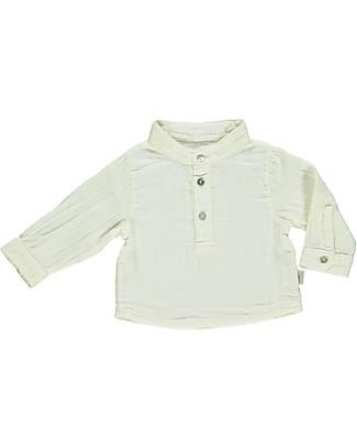 Poudre Organic Camicia Tre Bottoni, Bianco Latte - 100% cotone bio null