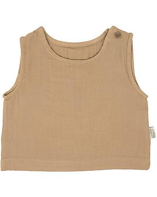 Poudre Organic Canotta a Spalla Larga Ceylan, Estate Indiana (da 3 anni) - 100% Cotone Bio T-Shirt e Canotte