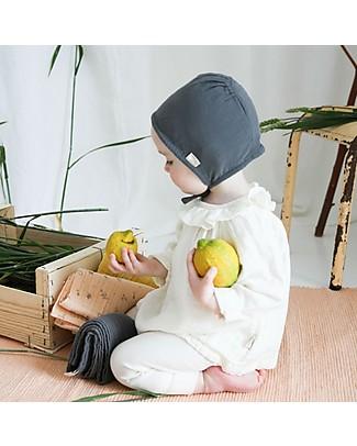 Poudre Organic Cuffietta Baby in Cotone Bio, Antracite Cappelli