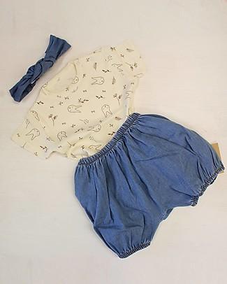 Poudre Organic Fascia per Capelli Bimba, Jeans (6 mesi - 8 anni) - 100% cotone bio Fermacappelli