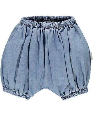 Poudre Organic Pantalone a Palloncino Copripannolino, Denim – 100% cotone bio Pantaloni Corti
