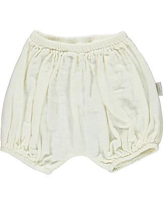 Poudre Organic Pantalone a Palloncino Copripannolino, Latte - 100% cotone bio Pantaloni Corti