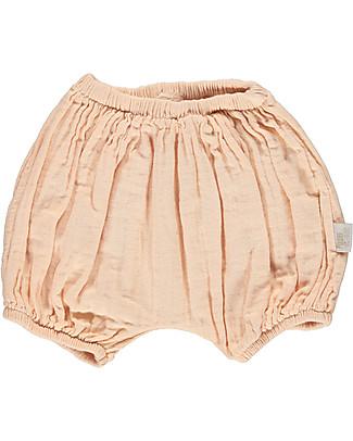 Poudre Organic Pantalone a Palloncino Copripannolino, Rosa - 100% cotone bio Pantaloni Corti