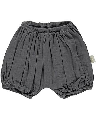 Poudre Organic Pantalone a Palloncino Copripannolino Verveine, Antracite - 100% cotone bio Pantaloni Corti