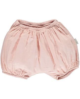 Poudre Organic Pantalone a Palloncino Copripannolino Verveine, Rosa Chiaro - 100% cotone bio Pantaloni Corti