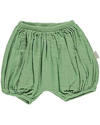 Poudre Organic Pantalone a Palloncino Copripannolino Verveine, Verde Giada - 1100% cotone bio Pantaloni Corti