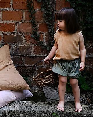 Poudre Organic Pantalone a Palloncino Copripannolino Verveine, Verde Olio - 100% cotone bio Pantaloni Corti