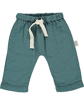 Poudre Organic Pantalone Unisex, Verde Petrolio - 100% cotone bio Pantaloni Lunghi